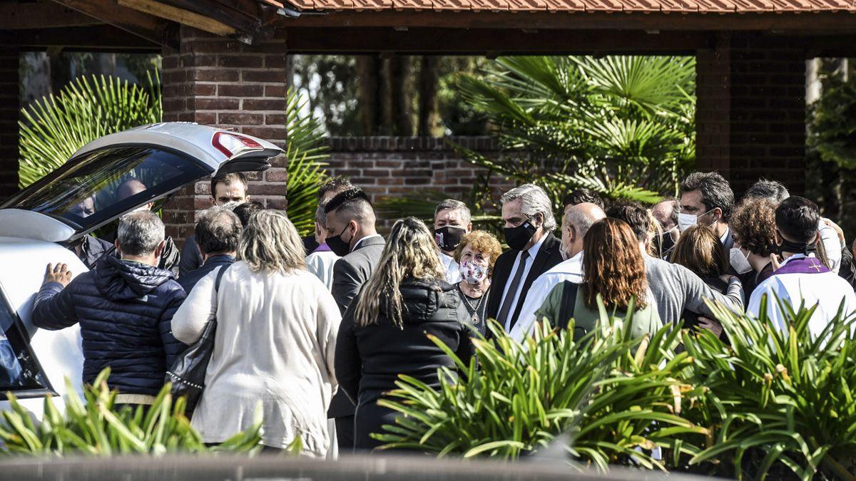 El presidente Alberto Fernández estuvo en Junín para despedir los restos de Meoni.