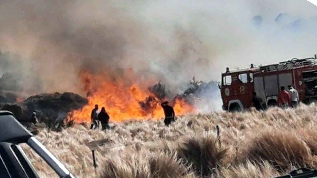 Entre Achiras y La Punilla se desarrolló un nuevo incendio.