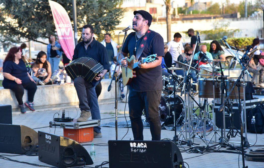 Darío Lazarte participó del evento en Parque Pereira y Domínguez.