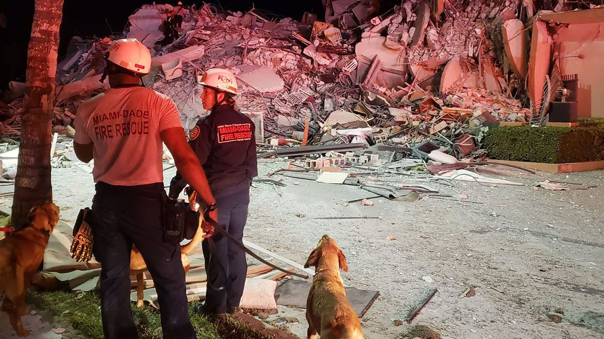 Suben a 4 los muertos y a 159 los desaparecidos por el derrumbe en Miami