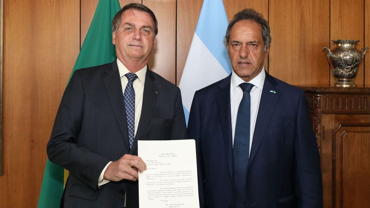 Scioli destacó avances en exportaciones a Brasil y anticipó posible cumbre Fernández-Bolsonaro