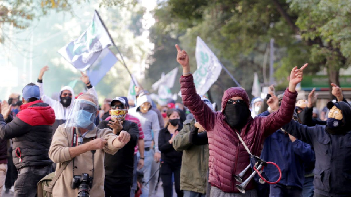Los manifestantes en Córdoba