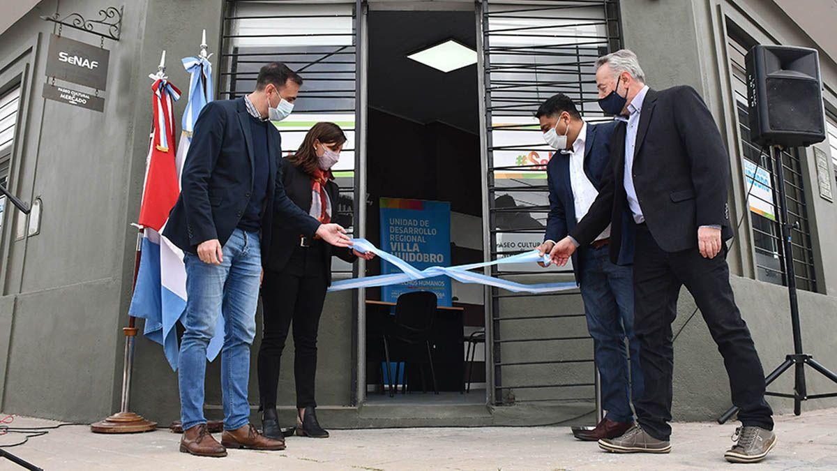 Inauguraron la Unidad Regional dependiente de la Senaf en Villa Huidobro