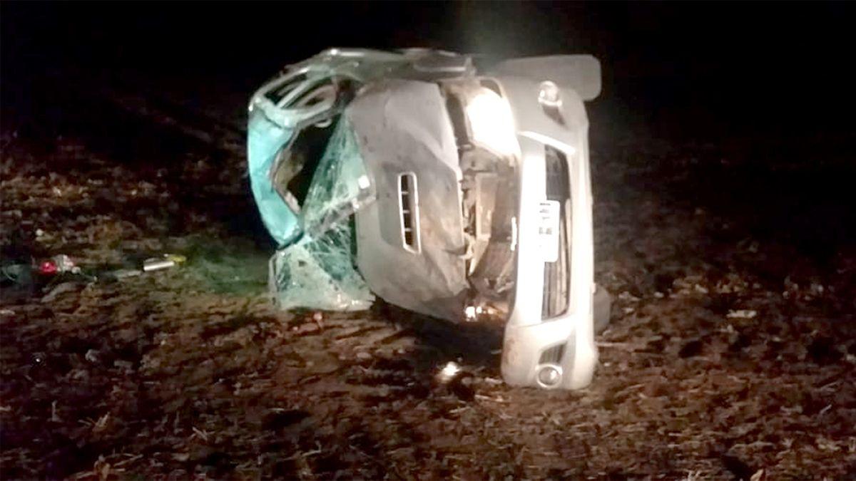 La muerte de dos cazadores en un vuelco enlutó a los vecinos de Serrano