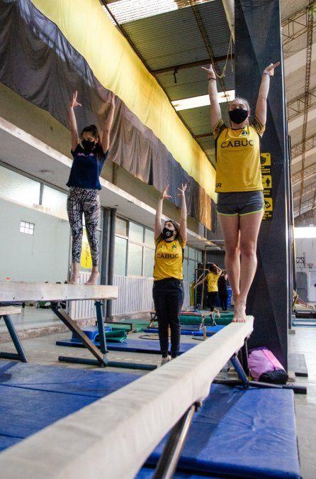 De regreso: las gimnastas de Unión Central volvieron a la actividad