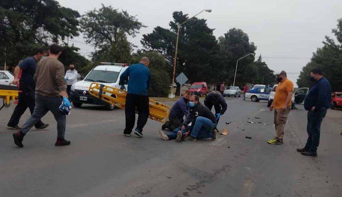 Dos heridos  tras un choque en ruta 8,  en Sampacho