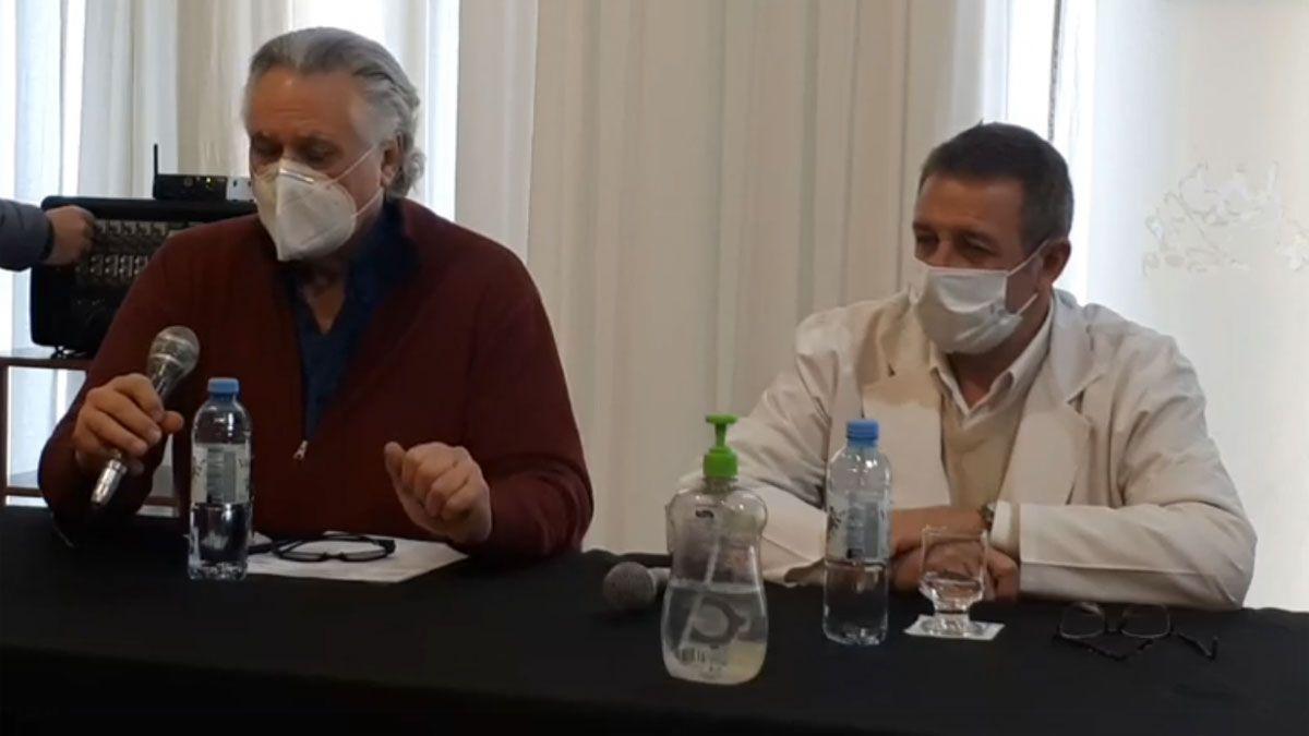 Las autoridades sanitarias de Hernando brindaron una conferencia de prensa