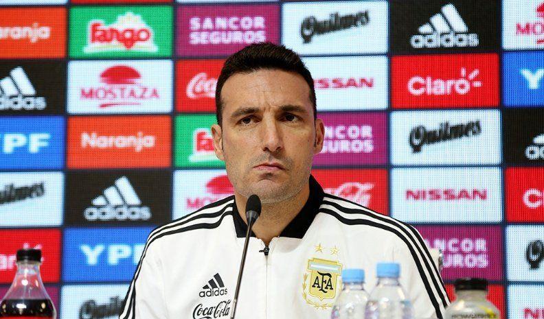 Scaloni justificó la ausencia de Messi