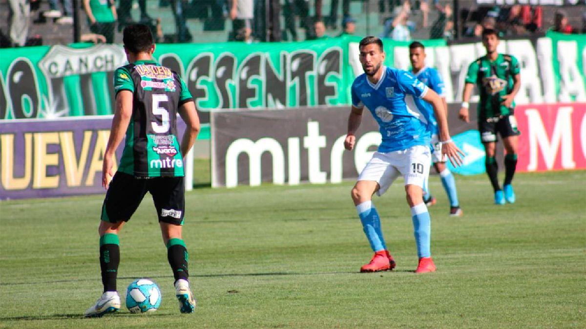 La imagen de Alvaro Cuello en Mataderos. El 27 de septiembre de 2019 se jugó el partido con empate 1 a 1.