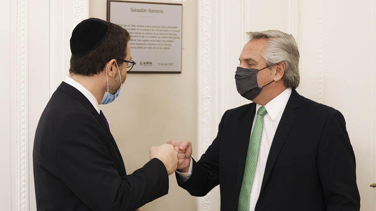 El presidente Fernández recibió a las autoridades de la AMIA.