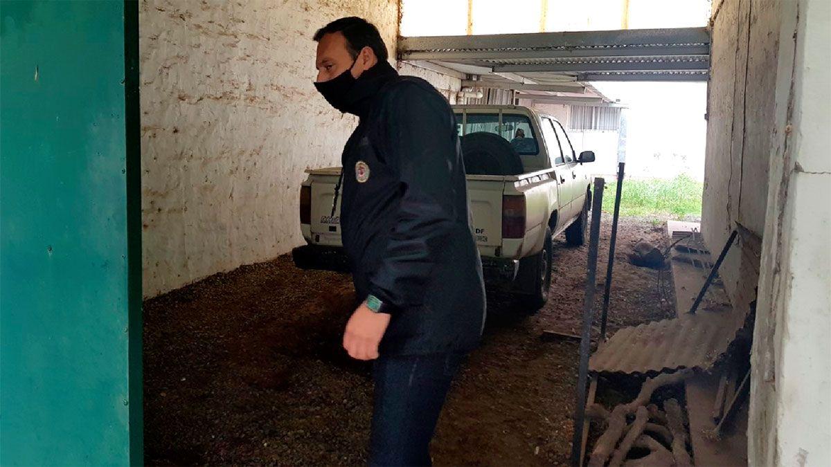 Efectivos de Homicidios requisaron la cochera donde fue asesinado el padre Vaudagna