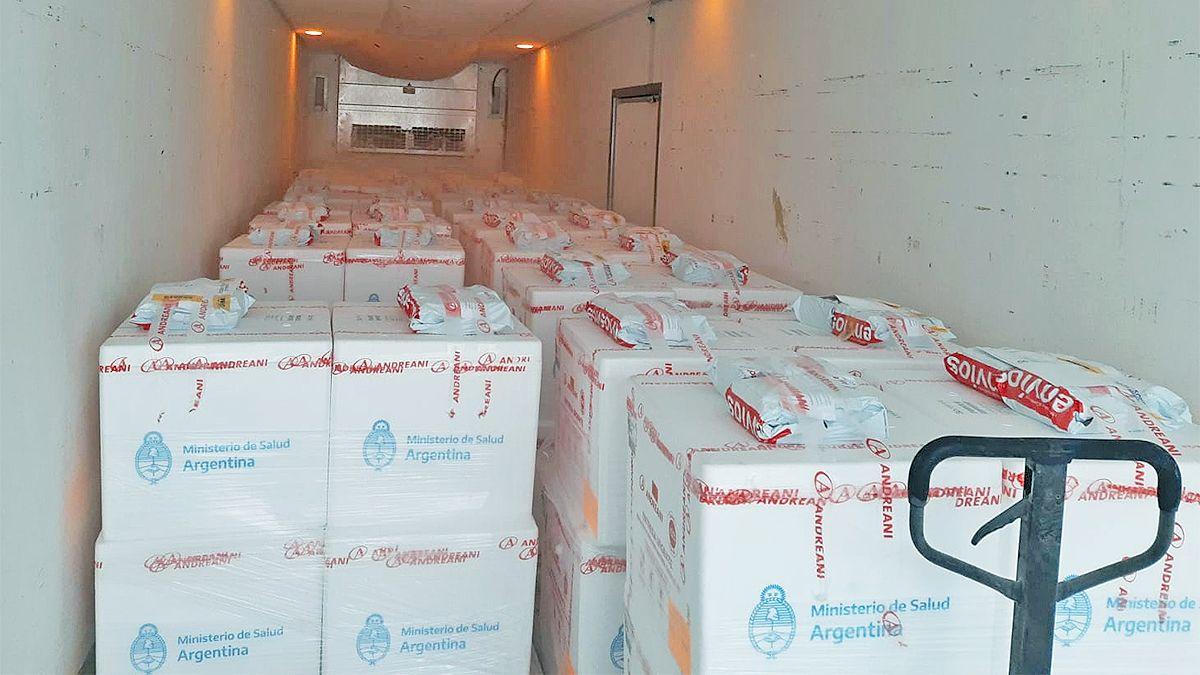 La gran mayoría de estas vacunas llegaron al país ayer en un vuelo especial de Aerolíneas Argentinas desde Moscú.