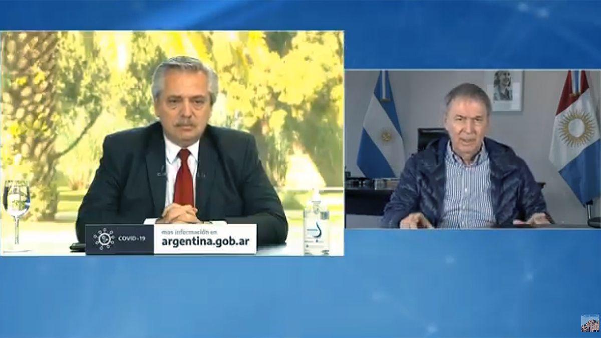 El presidente y el gobernador Schiaretti