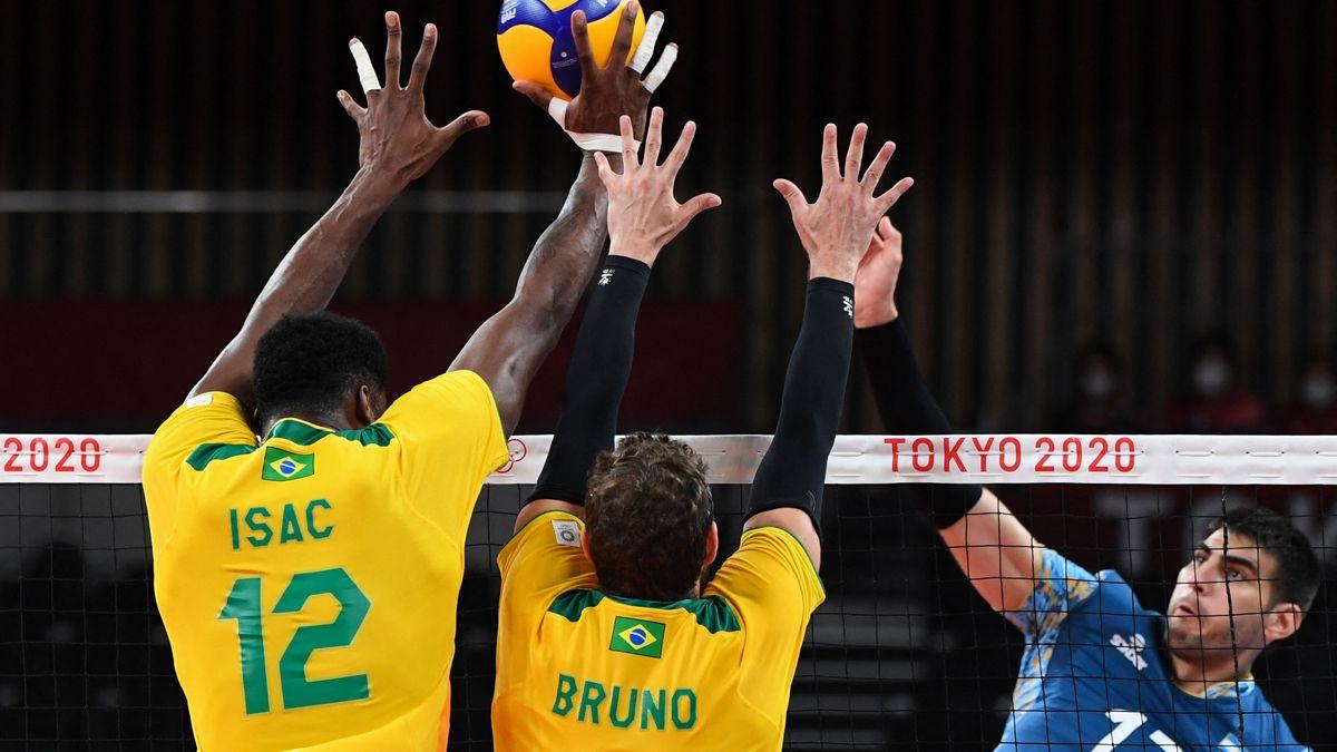 Argentina sufrió una derrota ante Brasil en el vóleibol.