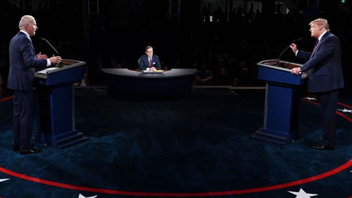 Trump y Biden, sin tregua en un debate signado por la tensión