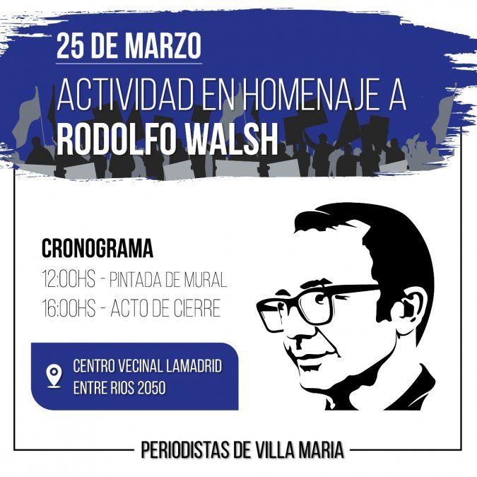 A 44 años de su muerte,pintarán un mural en homenaje a Rodolfo Walsh