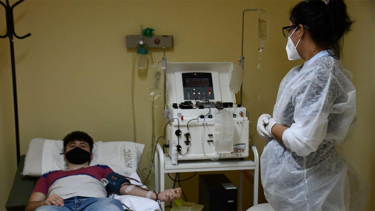Unos 70 recuperados de Covid-19 en la ciudad se anotaron para donar plasma