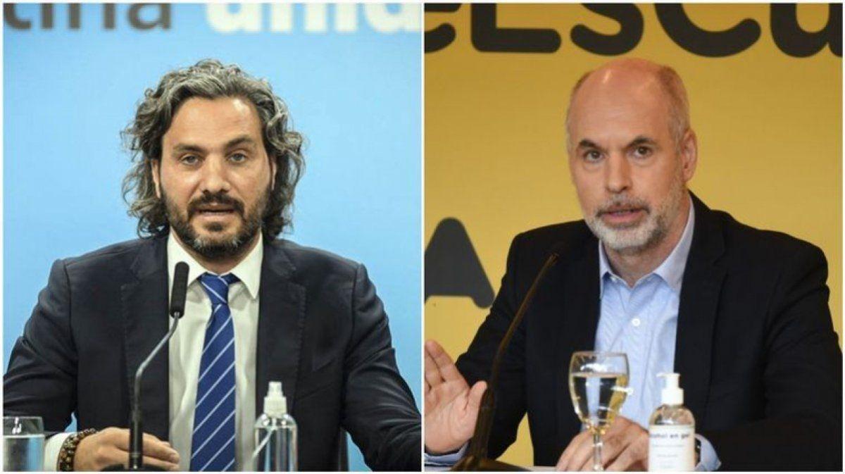 Santiago Cafiero acusó a Horacio Rodríguez Larreta de politizar la suspensión de las clases presenciales.