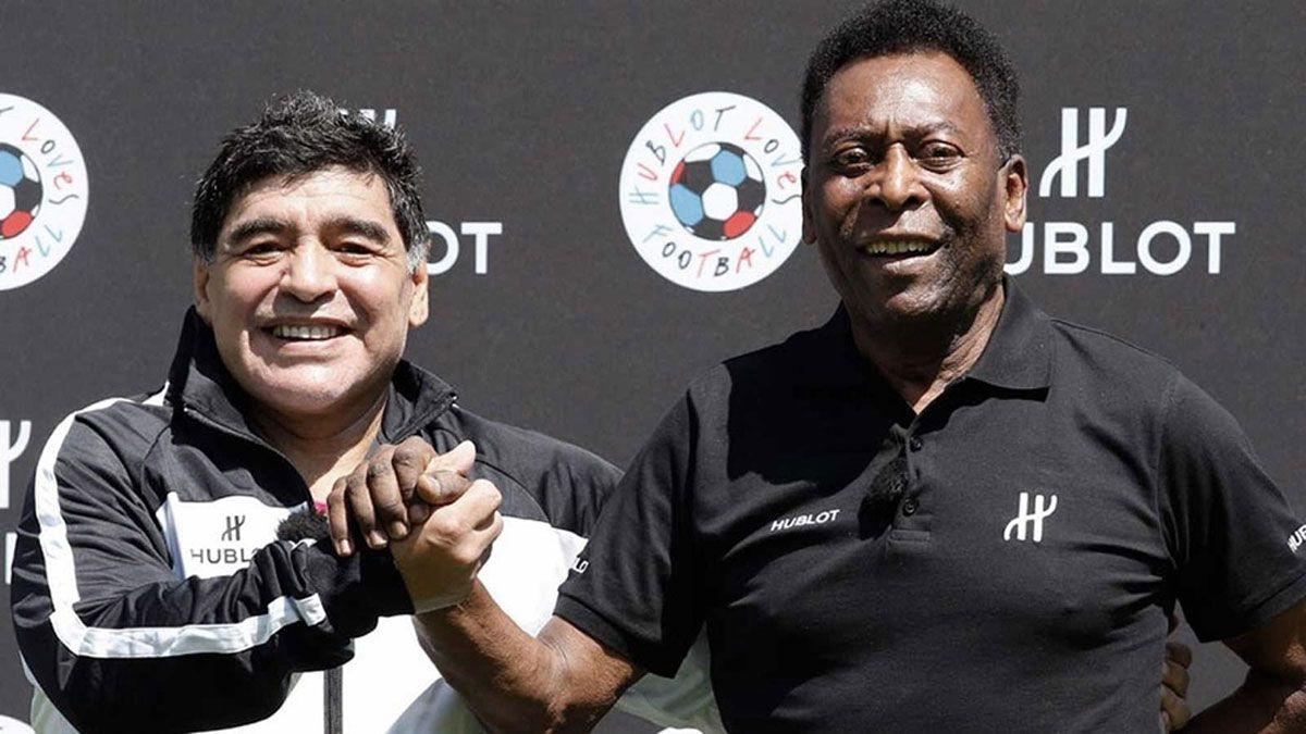 Espero que podamos jugar al fútbol en el cielo, dice Pelé tras el fallecimiento de Maradona