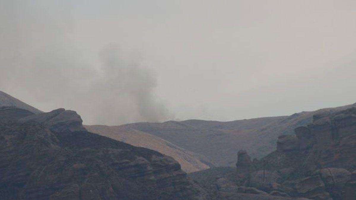 Sigue el combate de incendios en la zona de Capilla del Monte