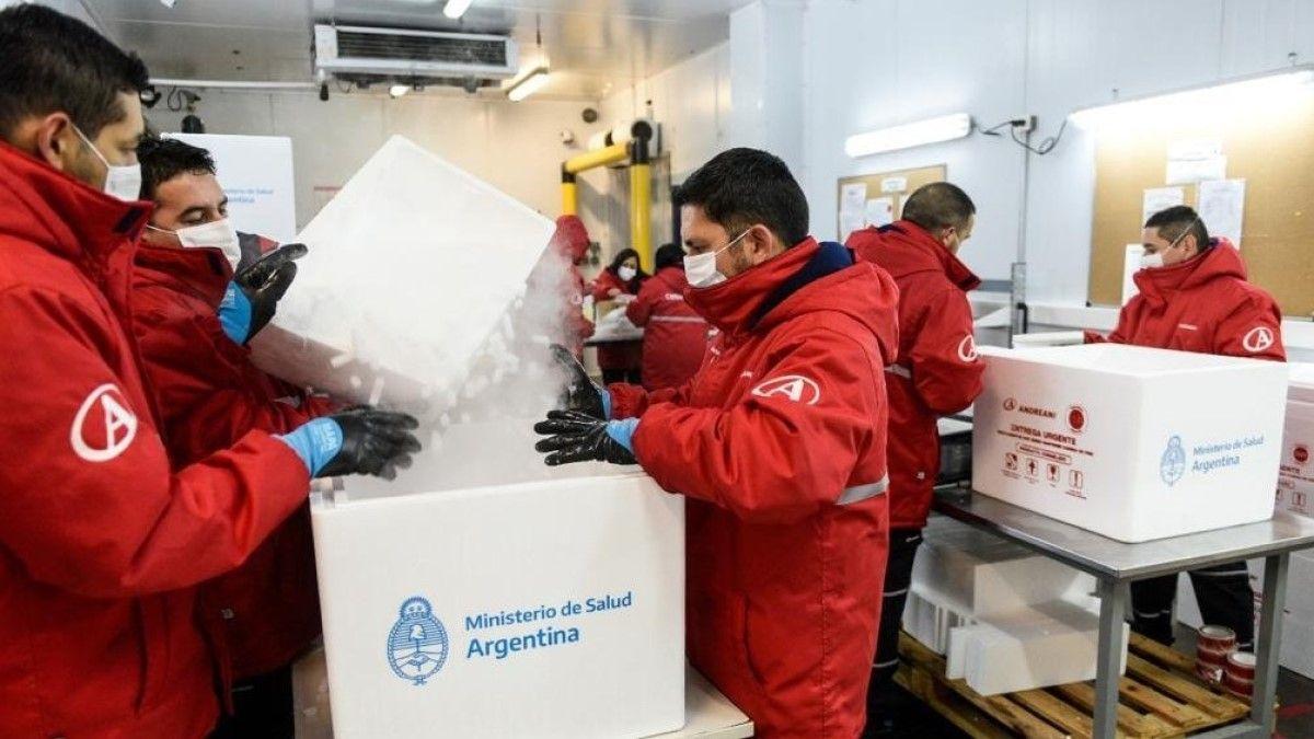La provincia de Córdoba recibirá 66.200 dosis de la vacuna de AstraZeneca.