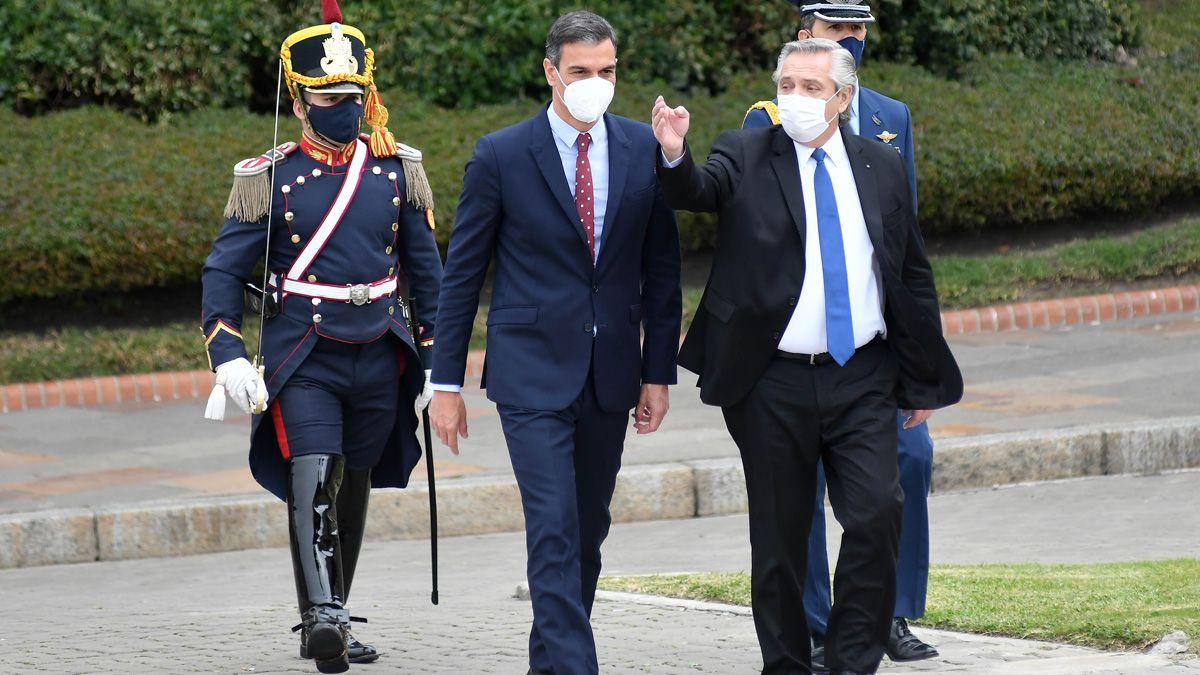 Alberto Fernández aclaró sobre una frase que generó polémica durant el encuentro con Sánchez.