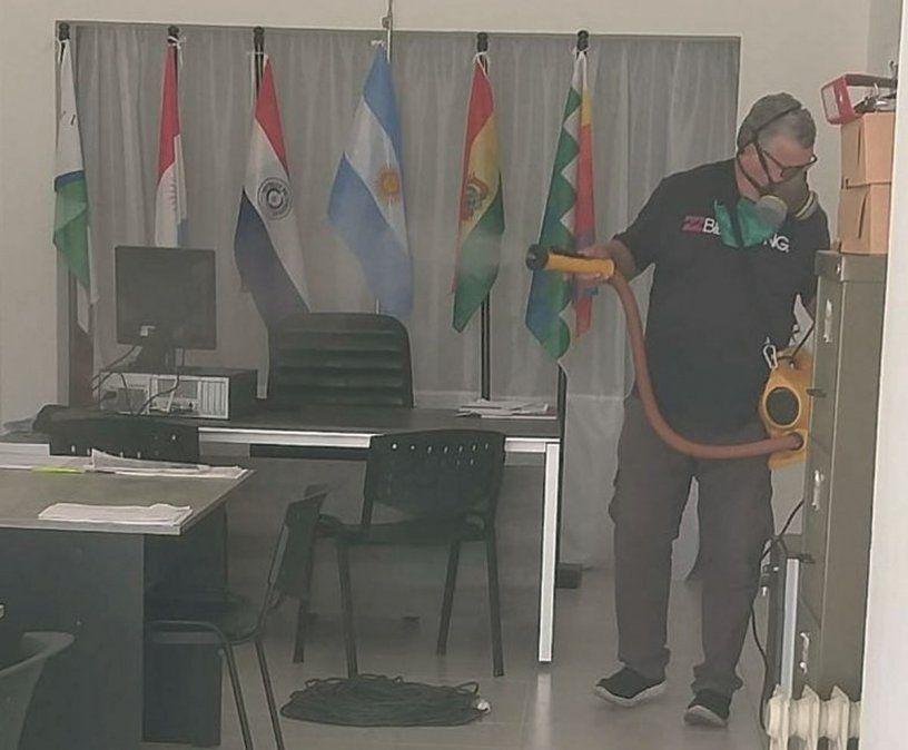 Desinfectaron dependencias municipales en Villa Nueva