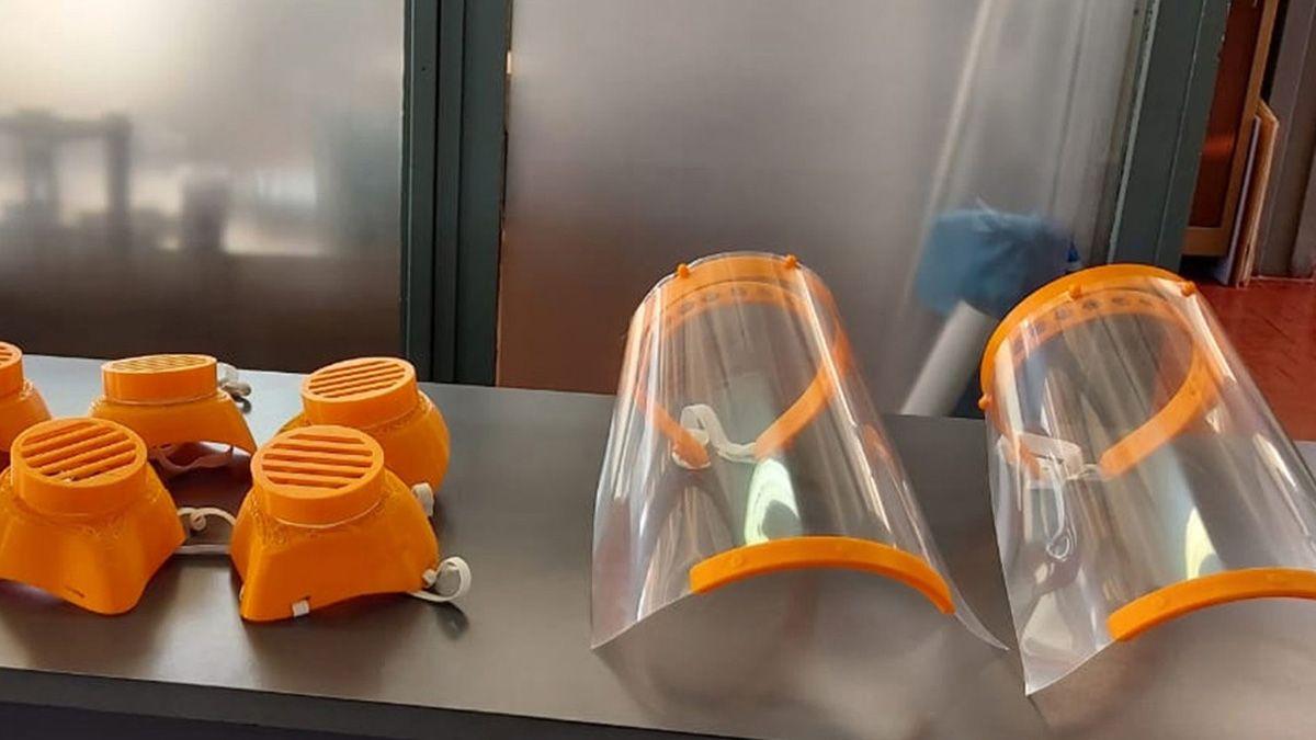 Con las impresoras 3D que recibieron del gobierno provincial el año pasado