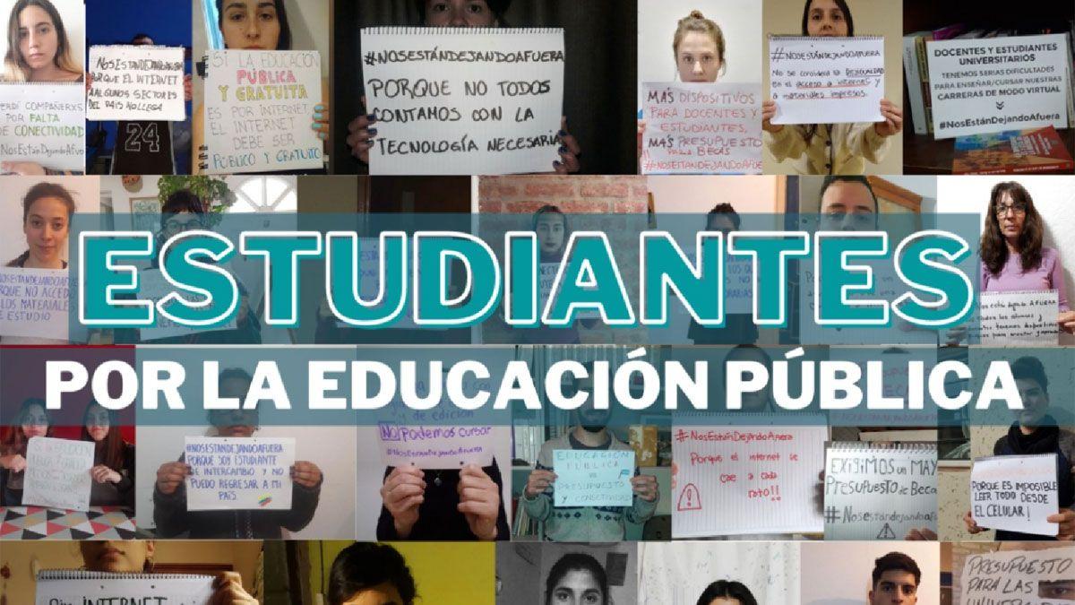 Los estudiantes largaron una campaña de difusión con imágenes y pusieron a disposición un Instagram: @estudiantesunrc.