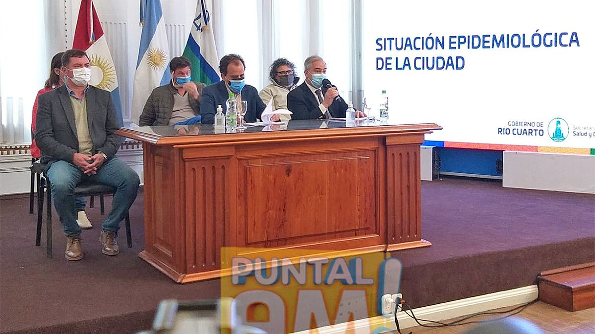 El Intendente encabeza esta mañana la presentación del informe epidemiológico del estado de situación sanitario en la ciudad.