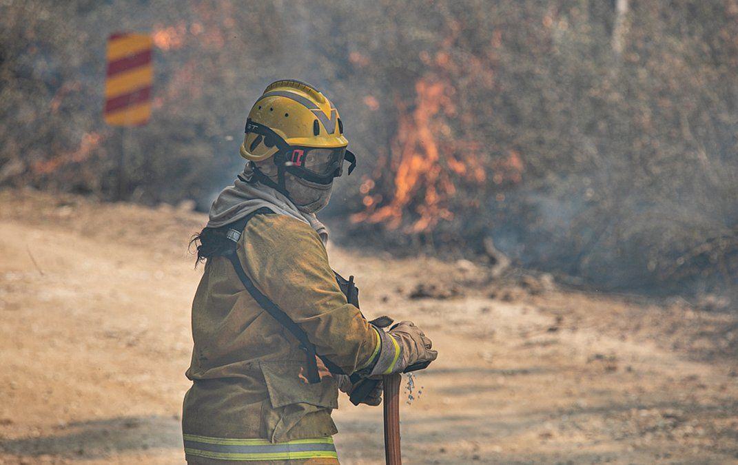 Los bomberos de Villa María participaron en La Paz