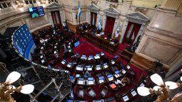Sesión Ordinaria remota del Senado de la Nación en la que se trata el aporte solidario y extraordinario para ayudar a morigerar los efectos de la pandemia,entre otros temas