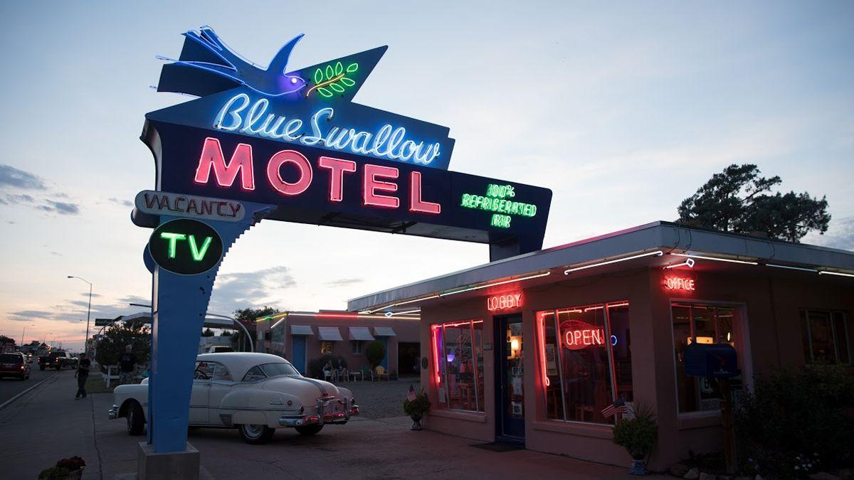 El motel Blue Swallow de Nuevo México