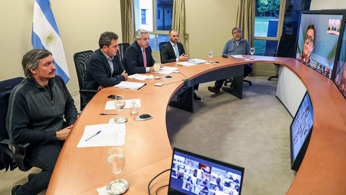 El presidente Alberto Fernández encabezó la reunión con diputados.