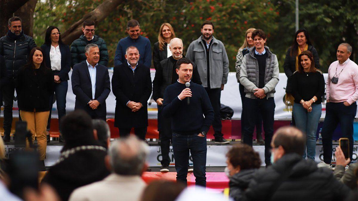 De Loredo habla durante el lanzamiento de Juntos por el Cambio.