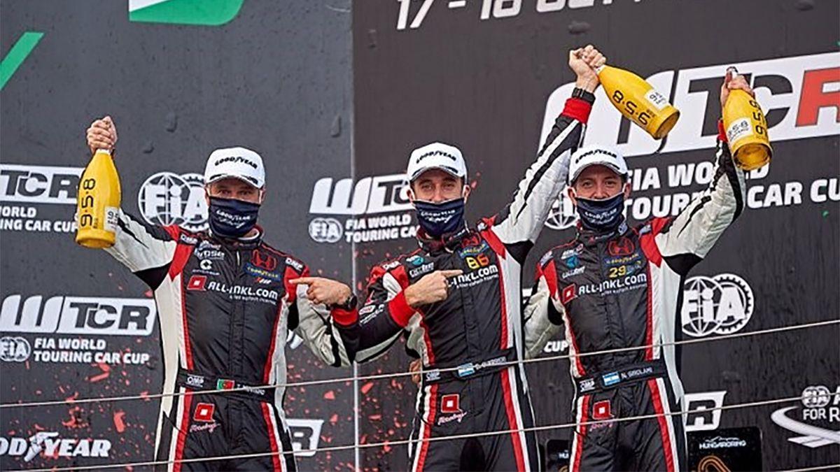 Guerrieri consiguió dos victorias  en carreras del Mundial de Turismo