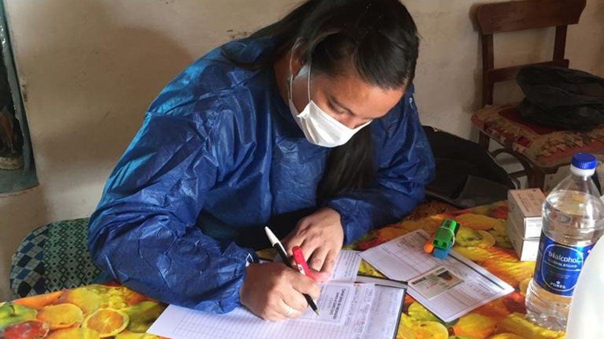 Personal de La Cumbrecita vacunó contra el coronavirus en Alto del Chicharrón.