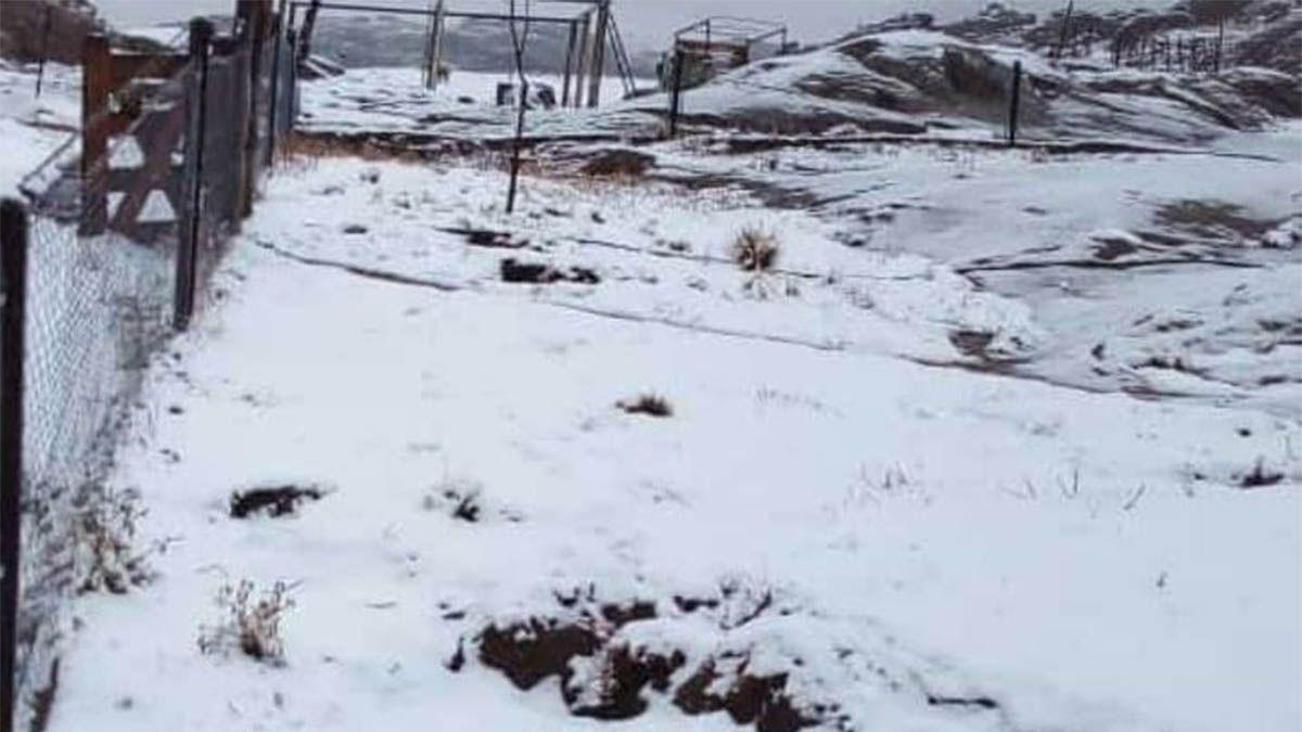 Nieva en el cerro ChampaquíCrédito: Radio Regional sur