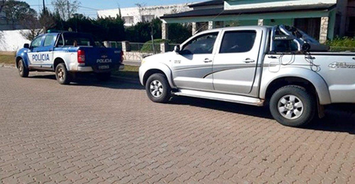 Los cazadores de Villa María se trasladaban en una camioneta marca Toyota Hilux color gris.