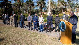 El ministro Rossi estuvo acompañado de funcionarios nacionales, provinciales y locales en el marco de la reincorporación de los 16 trabajadores a la Fábrica local.