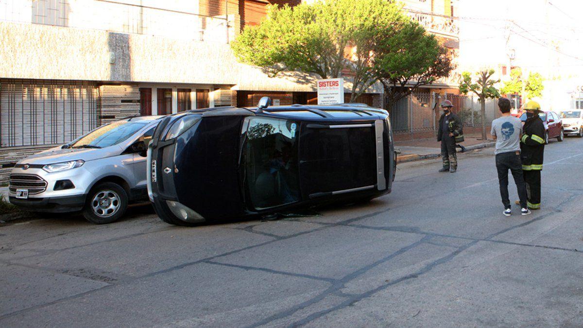 El accidente ocurrió en la primera cuadra de calle Pedro Zanni.