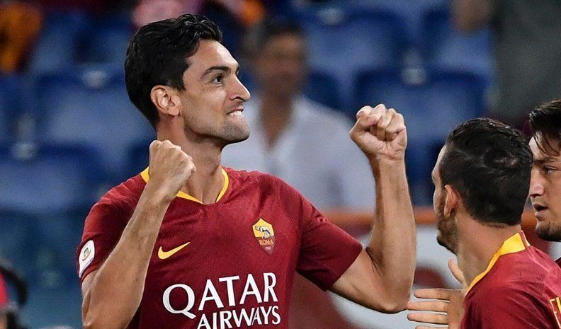 Gol de Pastore en el empate de la Roma
