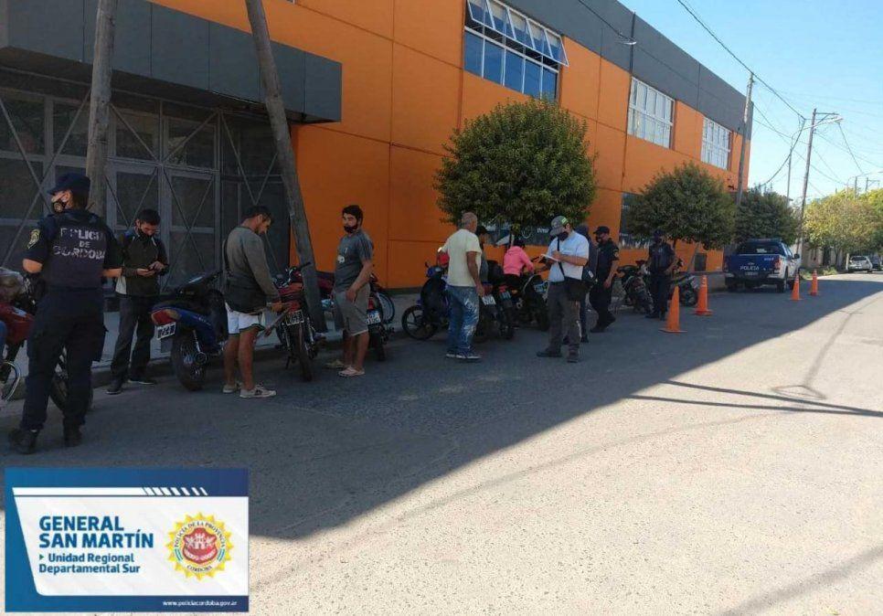 Del lunes al viernes, retuvieron 60 motos y 6 autos