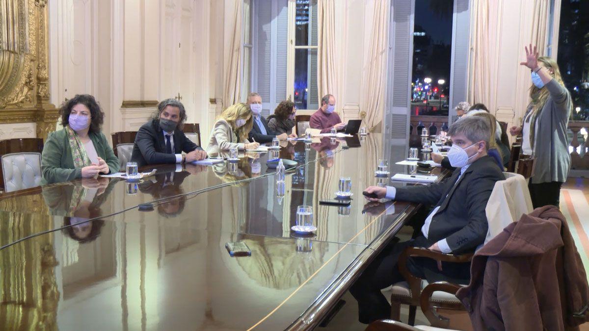 Vizzotti y Cafiero encabezaron la reunión con epidemiólogos.