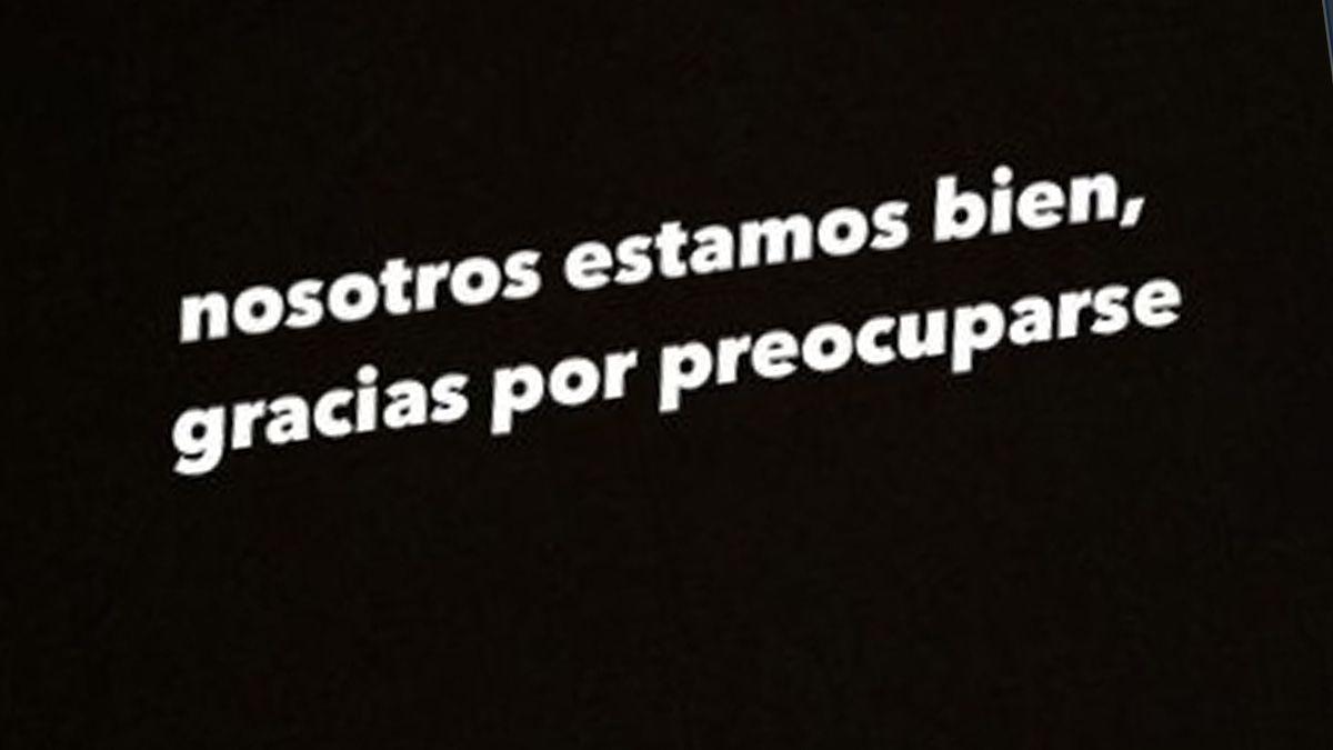 El mensaje que publicó Gimena poco después de la tragedia.