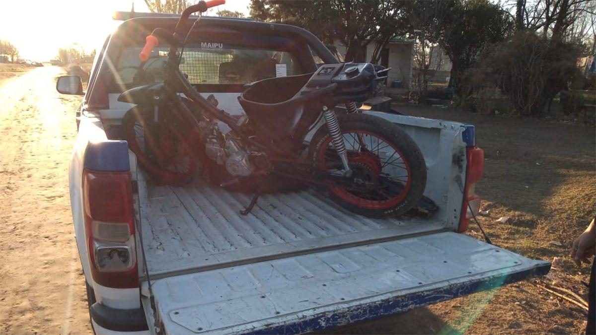 Una moto fue secuestrada entre los elementos probatorios.