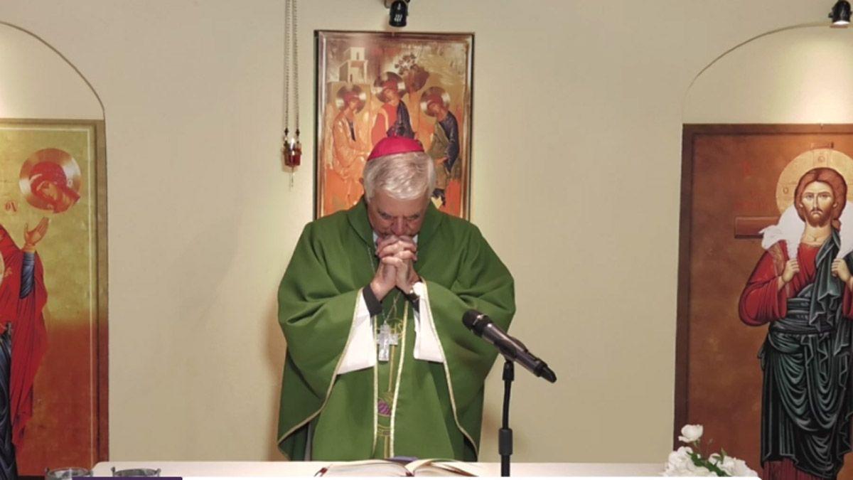 Monseñor Uriona presidió la santa misa desde Colonia el Espinillal.