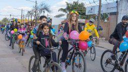 """""""Ciudadanos solidarios en acción"""" no podrá realizar este año la bicicleteada por el Día de la niñez. En su lugar, organizó una cruzada solidaria y virtual que contará con la presencia de artistas. La transmisión será por Instagram."""