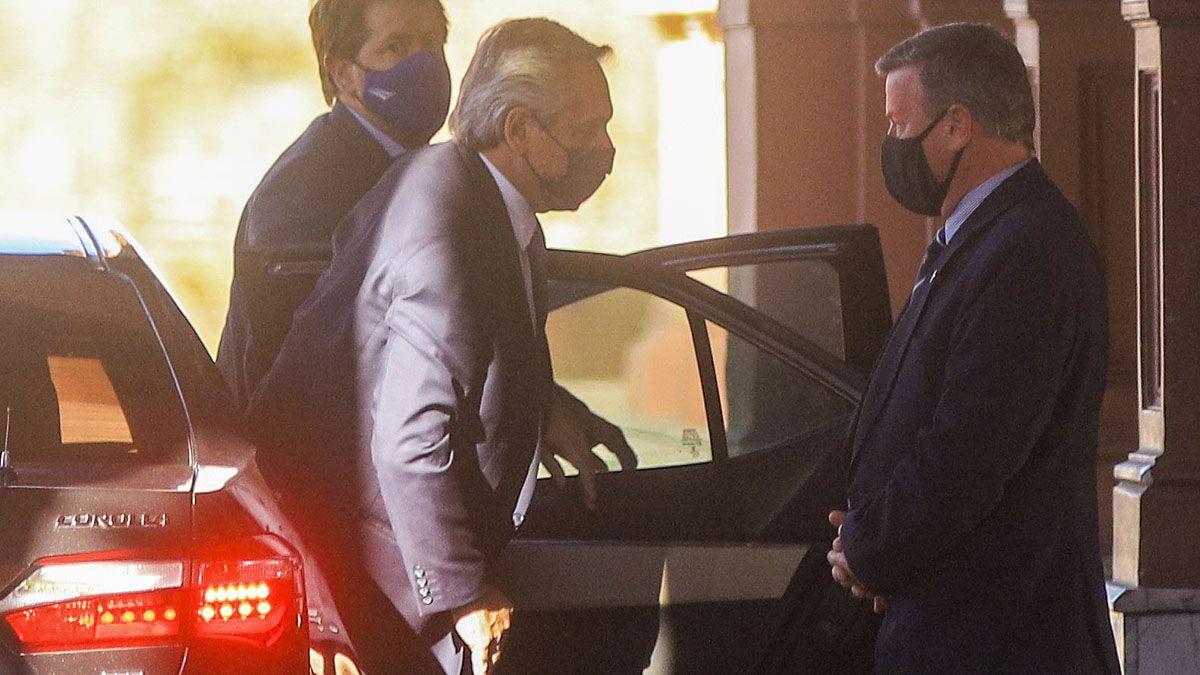 Alberto Fernández mantuvo reuniones en la Casa Rosada durante la tarde.