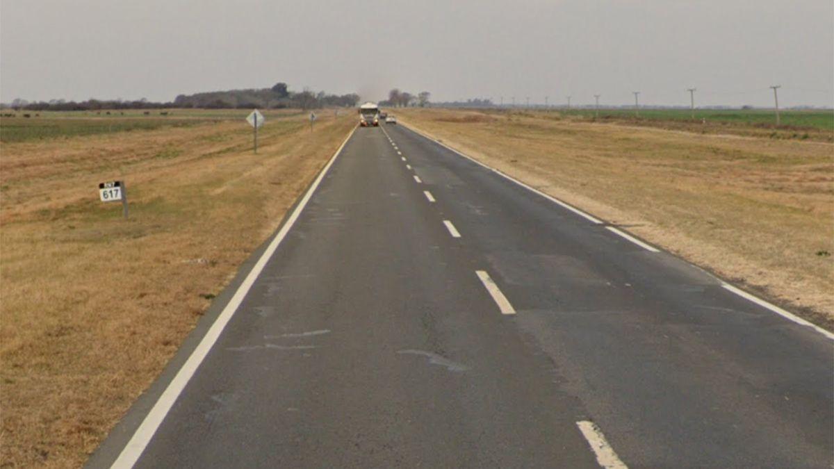 El tramo de ruta 7 donde se registró el siniestro.